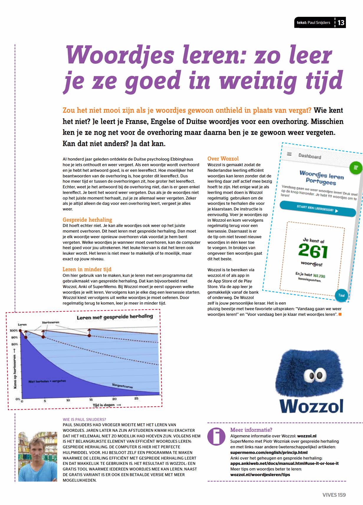 Artikel over Wozzol in Vives magazine
